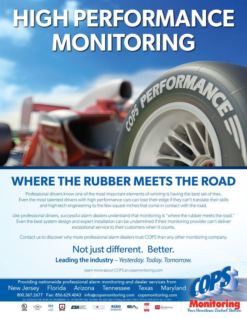 COPS Monitoring Rubber Meets the Road Ad