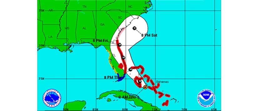 Path of Hurricane Matthew 2016, COPS Monitoring