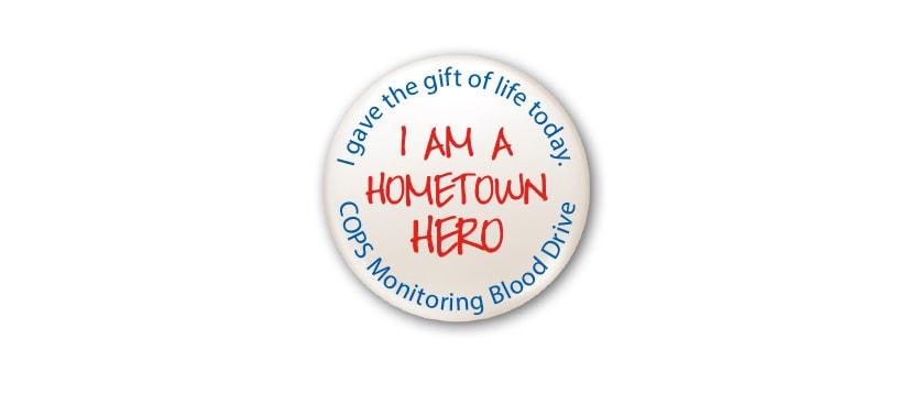 COPS Monitoring Hometown Hero Blood Drive