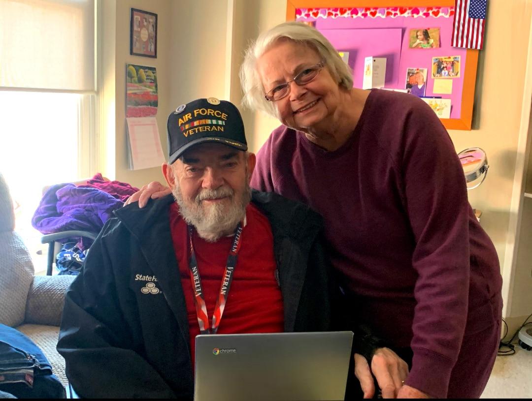 US Air Force Veteran Adolphe (Bill) Engler & Wife Judy Engler